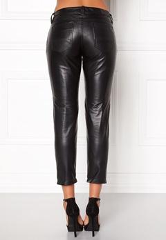 TOMMY HILFIGER DENIM Skinny Leather Pants 078 Tommy Black Bubbleroom.se