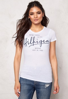 TOMMY HILFIGER DENIM S/S T-Shirt 100 Classic White Bubbleroom.se