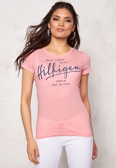 TOMMY HILFIGER DENIM S/S T-Shirt 646 Powder Pink Bubbleroom.se