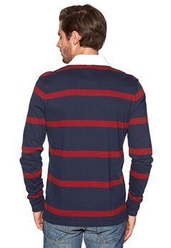 TOMMY HILFIGER Tylor Rugby Tee Navy Blazer/ Red Bubbleroom.se