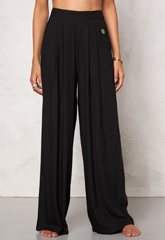 Chiara Forthi Ultra Soft Wide Pants Black Bubbleroom.se