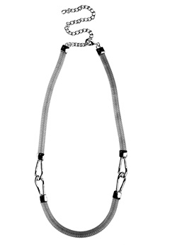 Pieces Vanilla chain waist belt Silver colour Bubbleroom.se