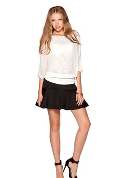 VERO MODA Alicia Lace Top White Bubbleroom.se
