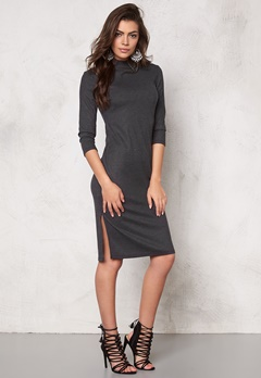 VERO MODA Alin hi-neck 3/4 dress Black Bubbleroom.se