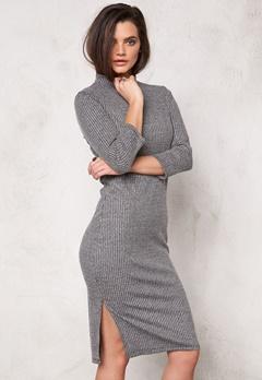 VERO MODA Alin hi-neck 3/4 dress Medium Grey Melange Bubbleroom.se