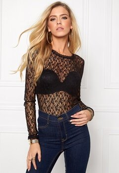 VERO MODA Amy Lace Top Black Bubbleroom.se