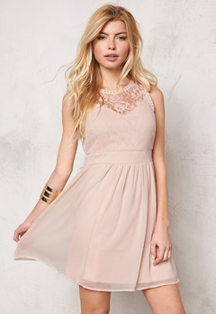 VERO MODA Aya s/l mini dress noos Rose Dust Bubbleroom.se