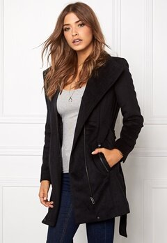 VERO MODA Call Rich 3/4 Wool Jacket Black Bubbleroom.se