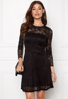 VERO MODA Celeb Lace Short Dress Black Bubbleroom.se