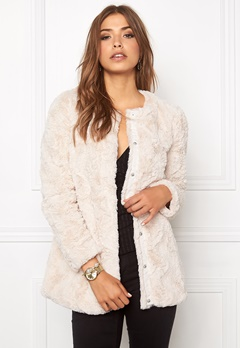 VERO MODA Curl Long Fake Fur Oatmeal Bubbleroom.se