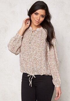 VERO MODA Fauna l/s top Moonbeam Bubbleroom.se
