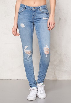 VERO MODA Five super slim jeans Medium blue denim Bubbleroom.se