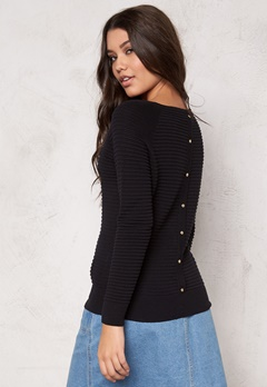 VERO MODA Forever O-neck Knit Black Bubbleroom.se
