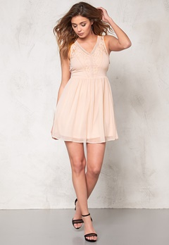 VERO MODA Freja s/l mini dress Rose Dust Bubbleroom.se