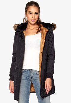 VERO MODA Friend 3/4 Jacket Black Bubbleroom.se