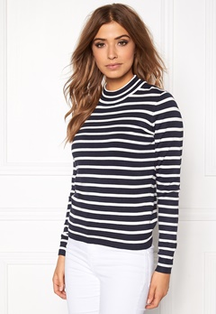 VERO MODA Glory Stripe Turtleneck Total Eclipse Bubbleroom.se