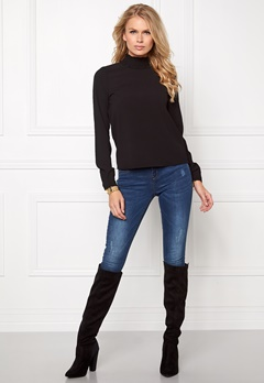 VERO MODA Greta L/S Top Black Bubbleroom.se
