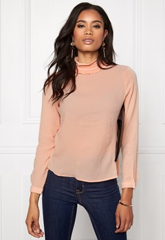 VERO MODA Greta L/S Top Cream Tan Bubbleroom.se