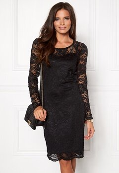 VERO MODA Joy Janet LS Dress Black Bubbleroom.se