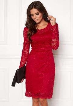 VERO MODA Joy Janet LS Dress Lipstick Red Bubbleroom.se