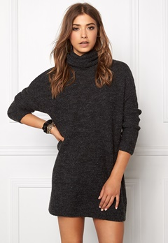 VERO MODA Joya Miami LS Long Roll Dark Grey Melange Bubbleroom.se