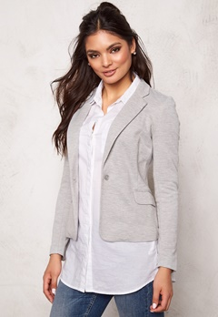 VERO MODA Julia l/s blazer Light Grey Melange Bubbleroom.se