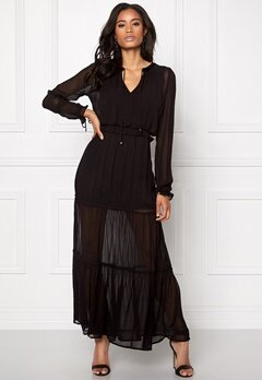 VERO MODA Kadash L/S Ancle Dress Black Bubbleroom.se