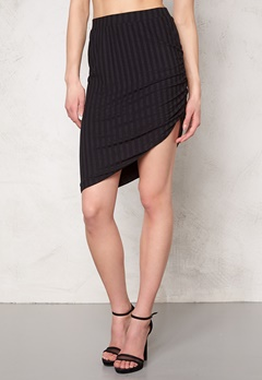 VERO MODA Karma high/low skirt Black Bubbleroom.se