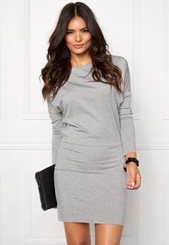 VERO MODA Kelly L/S Short dress Light Grey Melange Bubbleroom.se