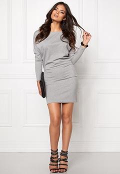 VERO MODA Kelly L/S Short dress Light Grey Melange Bubbleroom.fi