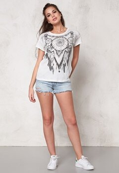 VERO MODA Lanny s/s T-shirt Snow White Bubbleroom.se