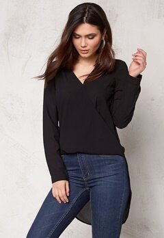 VERO MODA Lauren Drop l/s Top Black Bubbleroom.se