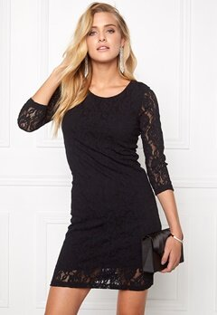 VERO MODA Lilly Lace Short Dress Black Bubbleroom.se