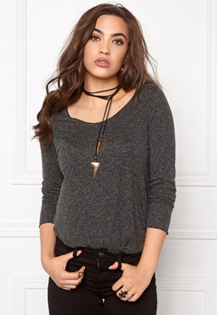 VERO MODA Lua LS Top Black Bubbleroom.se