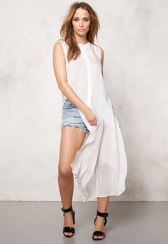 VERO MODA Meshy ankle shirt dress Snow White Bubbleroom.se