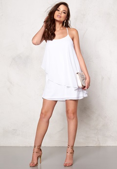 VERO MODA Miva s/l mini dress Bright White Bubbleroom.se