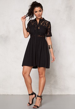 VERO MODA Nynne s/s lace dress Black Bubbleroom.se