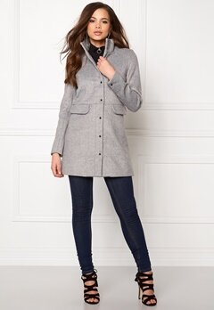 VERO MODA One Dope 3/4 Jacket Light Grey Melange Bubbleroom.se