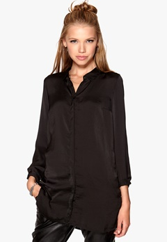 VERO MODA Perfect Long Shirt Black Bubbleroom.se