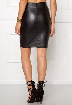 VERO MODA Posy PU Pencil Skirt Black Bubbleroom.se