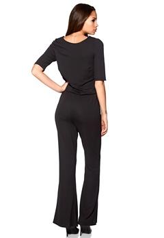 VERO MODA Sassa Flare Jumpsuit Black Bubbleroom.se