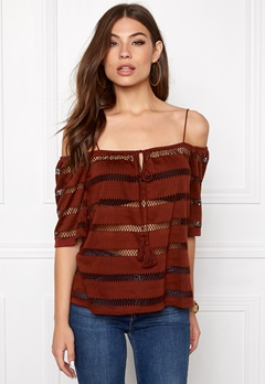 VERO MODA Steve Off Shoulder Fired Brick Bubbleroom.se