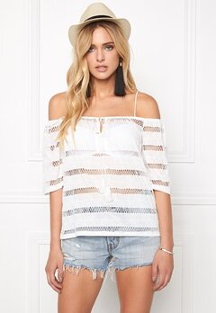 VERO MODA Steve Off Shoulder Snow White Bubbleroom.se