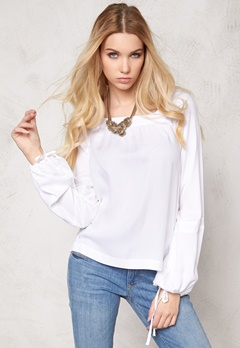 VERO MODA Viola L/S Top Bright White Bubbleroom.se