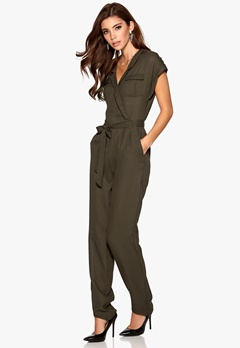 VILA Above S/S Jumpsuit Black Olive Bubbleroom.se