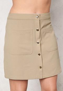 VILA Betina Skirt Soft Camel Bubbleroom.se