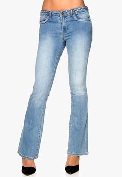 VILA Calm Braid Jeans Light Blue Denim Bubbleroom.se