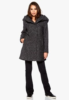 VILA Cama Favored Coat Black/Grey mel. Bubbleroom.se