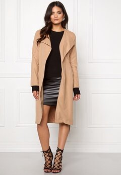VILA Can Long Coat Dusty Camel Bubbleroom.fi