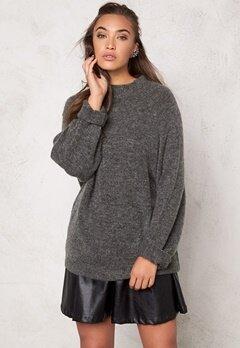 VILA Cant knit top Dark Grey Melange Bubbleroom.se